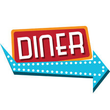 Diner Concession Decal Sign Cart Trailer Stand Sticker Equipment