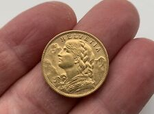 More details for 1927 helvetia 20 francs gold coin, switzerland/ bern, mint condition.