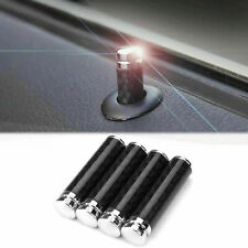 4x Black Carbon Fiber Car Truck Interior Door Lock Knob Pull Pin For Chevrolet Fits Toyota
