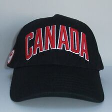 HBC Team Canada Olympic Hat Cap Black And Red Adjustable 2018