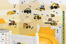 Bagger Kinderzimmer-Wandtattoos & -Wandbilder für Jungen ...
