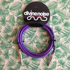 DIVINE NOISE  15ft Straight GUITAR Cable Purple (ST-ST) SEE VIDEO BELOW
