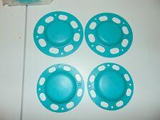 Nos Teal Sno Stuff 114-100-89 Idler Wheel Covers Polaris Arctic Cat 2 Lg & 2 Sm