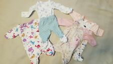 Girls Premie Clothing Lot 5 Piece Sleepers Unicorns Dinasours Mixed Euc Baby Lot