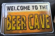 WHOLESALE LOT OF 6 WELCOME TO BEER CAVE SIGN tin embossed bar garage man metal