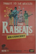 """THE RABEATS (TRIBUTE TO THE BEATLES)"" Affiche originale entoilée  42x61cm"