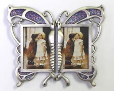 2 - 2 x 3 Hinged Butterfly Sparkle Purple Epoxy Insets Item#48 ROCKET FAST SHIP!