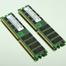 2GB 2x 1GB PC3200 DDR400 Low-Density 400Mhz 184pin DIMM Desktop Memory 64Mx8 CL3
