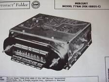 1957 MERCURY 77BM, FEK-18805-C RADIO PHOTOFACT