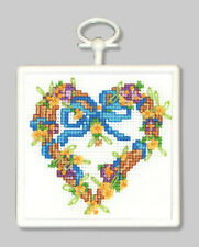 Counted Cross Stitch Kit GRAPEVINE WREATH; Christmas Ornament!  Wall-Hanging!