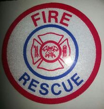 "Emergency Fire Rescue Decal, Firefighting Decal, Reflective 3.75""  #FD05"