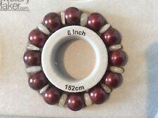 Borgogna Shell Pearl & Moonstone Bracciale elastico. 6 - 6.5 in (ca. 16.51 cm)