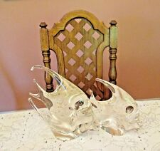 Royal Gallery Pair of Art Glass Angel Fish, Italy