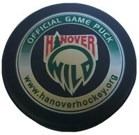 HANOVER WILD OFFICIAL GAME PUCK RARE MADE IN 🇨🇦 OLD GEM LINDSAY MFG.