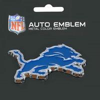 Detroit Lions Heavy Duty Metal 3-D Color Auto Emblem