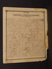 Missouri Harrison County Map Union Township 1876 Double Sided  J9#01