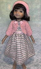 """Pink/ Grey Dress  , Sweater For Ruby Red Galleria Effner Fashion Friends. 15"""""""