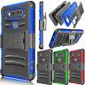 Shockproof Hybrid Rubber Hard Case Stand Cover Belt Clip Holster for LG V20