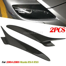 Carbon Fiber Headlight Lids Eyebrow Eyelids Cover For MAZDA RX 8 RX8 04-08