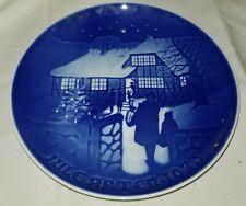 1973 Bing & Grondahl Ceramic Christmas Plate Jul pa landet Country Christmas