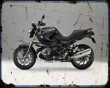 Bmw R1200R 14 A4 Metal Sign Motorbike Vintage Aged