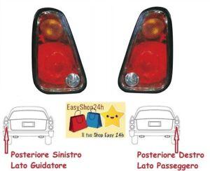 SET 2 FARO FANALE FANALINO POSTERIORE PER MINI ONE COOPER 2004 2006 GRUPPO STOP