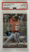 2018 Topps Now Juan Soto Rookie RC PSA 10 #279 Nationals