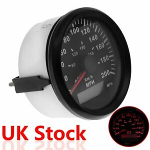 85mm Waterproof GPS Odometer Speedometer 300KM/H 200MPH for Car Boat Motorcycle