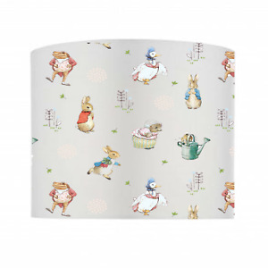 PETER RABBIT & FRIENDS Nursery Lampshade Baby Gift, 100% Cotton