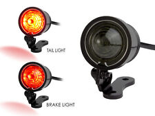 LED Stop Tail Light Smoked Lens Black CNC Machined Ally Vintage Retro Custom