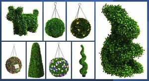Topiary Balls, Trees, Dogs, Rabbits & More - Huge Artificial Range, Multi Buy