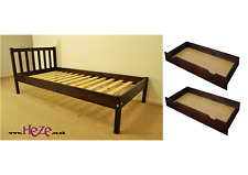 High Quality Strong Solid Single Wooden Bed in White 3ft Best on EBAY Drawer