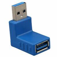 USB 3.0 A Macho a una Hembra de 90 Grados en angulo Adaptador de Enchufe Co L4S7