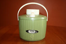 Vintage Green Plastic Thermos One Gallon Picnic Water Jug Cooler Gently Used