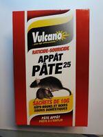 VULCANO RATICIDE SOURICIDE PATE APPAT  150G PAR SACHET DE 10G