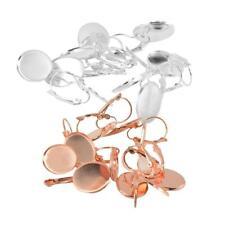 24pcsCrochet Boucle d'Oreille Base Ronde pour Cabochon Fabrication de Bijoux