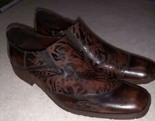 Ed Hardy Leather Dress Shoes Tiger Face Size 11 New Nice!🔥🔥