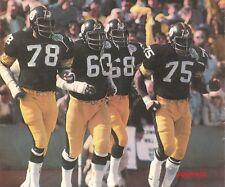 Steel Curtain Members Pittsburgh Steelers Mean Joe Greene Football 8 x 10 Photo