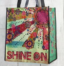 Recycled REUSABLE shopping tote gift bag. Natural Life. SHINE ON. Cute!! Strong!