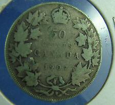 1907 Canada 50 cents silver a nice coin circulated