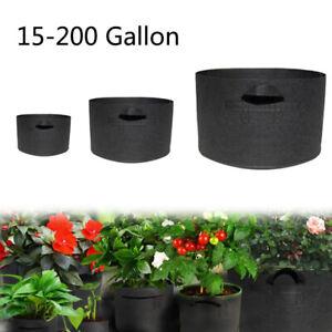 1-200 gallon Grow Bags fabric garden plants strawberry garden plant tree pots