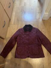 Women's Barbour Quilted Bordeaux/Merlot jacket size 14 BNWT