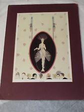THE PORTRAIT Chic Original Vintage ERTE Art Deco Print Fashion Book Plate