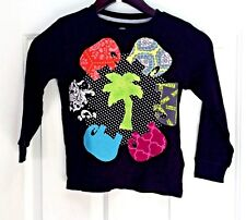 Girl's Thermal Tee, black, ls,size 5. embellished ready-made, simple madala