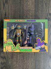 NECA Teenage Mutant Ninja Turtles | Michelangelo + Foot | Toon 2-pack NIB | TMNT
