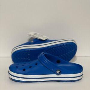 NWT Crocs Bayaband Clog Blue Bright Cobalt 205089-4JL Size Men's 7 Women's 9