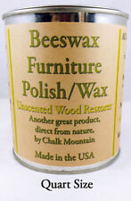 "Beeswax Furniture Polish and Wood Restorer. 1 Quart (32 Oz's) ""All Natural"""