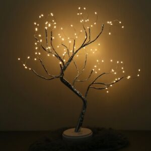 LED Lighted Tabletop Tree Branches Decoration Fairy Twig Lamp Home Party Garden