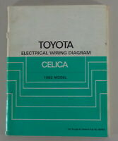 Workshop Manual Electrical Wiring Diagram Toyota Celica Model 1982