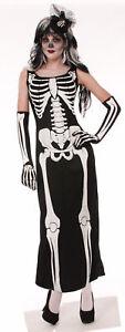 Sexy Skeleton Bones Dress Costume Adult Halloween Women Ladies Fancy New